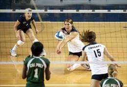 In volleyball, women should focus on digging