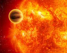 Massive planet is being torn apart by its own tides