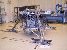 NASA's new lander prototype 'skates' through testing