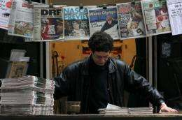 Newspaper circulation has dropped further in US