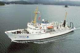NOAA ship Fairweather maps aid shipping through Bering Straits