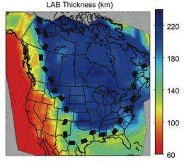 North American continent is a layer cake, scientists discover