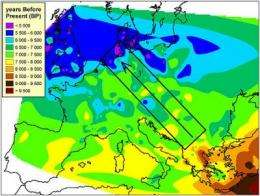 Northern hunters slowed down advance of Neolithic farmers