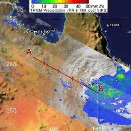 Olga now raining on third of 5 Australia territories