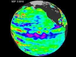 Pacific chills with growing La Nina