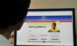 Philippine President Benigno Aquino's website