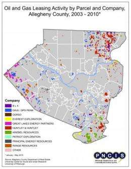 Pitt data on oil and gas leases gauges local Marcellus Shale activity since 2003