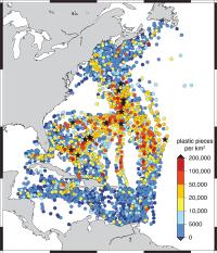 SEA researchers find widespread floating plastic debris in the western North Atlantic Ocean
