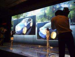 Sharp improves wall display technology