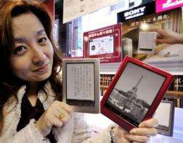 Sony on Friday launched its Reader range in Japan