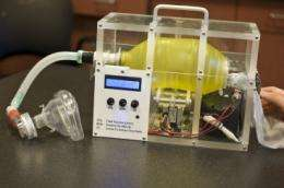Students develop a low-cost portable ventilator