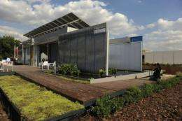 Students from around world began a 10-day competition to build the best house run only by solar energ
