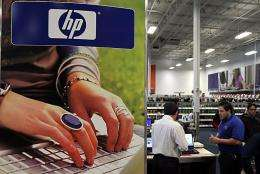 The earnings figures fell short of Wall Street forecasts and HP stock prices fell more than seven percent