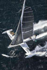 """The """"flying boat"""" Hydroptere"""