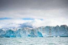 The Kongsbreen glacier