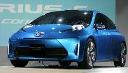 The new Toyota Prius C Concept vehicle unveiled in Detroit