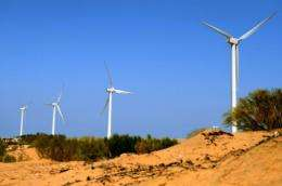 The new wind farm cost some $300 million and has 165 turbines