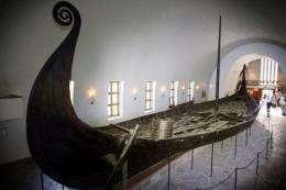 The Oseberg viking ship