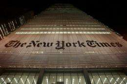 The Times Co. total revenue is expected to fall by two percent to three percent in the July-September quarter
