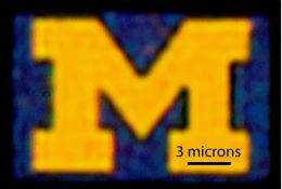 Smallest U-M logo demonstrates advanced display technology