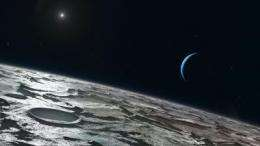 Triton's summer sky of methane and carbon monoxide