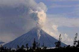 Villagers evacuated as Ecuador volcano erupts (AP)