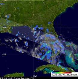 Warnings up for Tropical Depression 5 in the eastern Gulf of Mexico