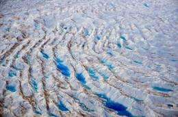 Water flowing through ice sheets accelerates warming, could speed up ice flow