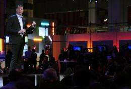 Chief executive officer of Sony Ericsson, Hans Vestberg, speaks at the 3GSM World Congress in Barcelona
