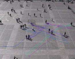 Deciphering the movement of pedestrians in a crowd