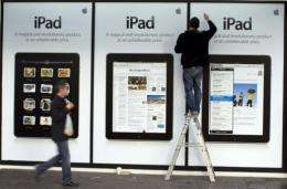 The iPad went on sale in the United States on April 3