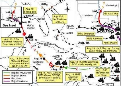 Geographers recreate Louisiana hurricane of 1812