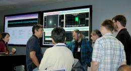 NASA spacecraft on final approach toward comet