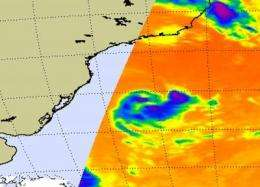 Second only south Atlantic tropical storm: 90Q, moving away from Brazil
