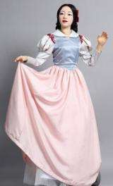 """South Korea's android robot """"EveR-3"""" (Eve Robot 3) wearing a costume for the play """"Robot Princess and Seven Dwarfs"""""""