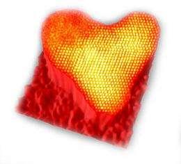 The World's Smallest Spontaneous Atomic Heart (Image: Nanoscale Physics Research Laboratory