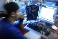 A man surfs the internet in Valencia