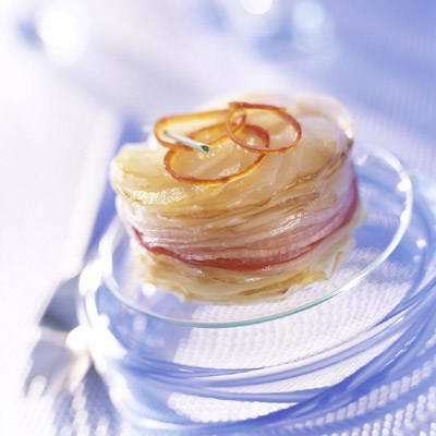 'Potato and tomato mille-feuilles'