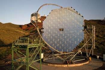 "the ""Major Atmospheric Gamma Imaging Cherenkov"" Telescope"