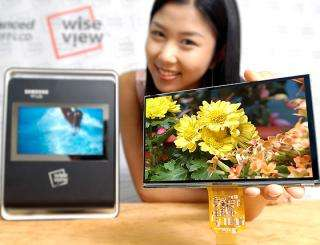 Samsung Develops 7-inch WVGA, Single-Chip LCD for Mobile Devices