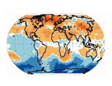 Midlatitude Warming Seen in Satellite Data