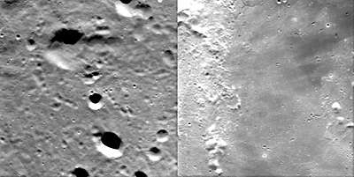 Highlands and mare landscapes on the Moon