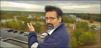 Physicist Abhay Deshpande overlooking the Relativistic Heavy Ion Collider