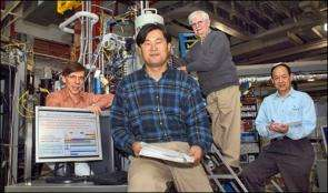 From left, Daniel Fischer, Won-Sub Yoon, James McBreen, and Xiao-Qing Yang.