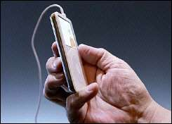 An Apple iPod with video capabilities