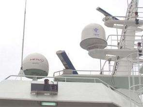 Up- and down-link antennas. Credits: Wired Ocean Ltd