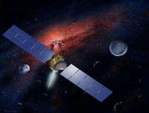 Artist's concept of Dawn spacecraft