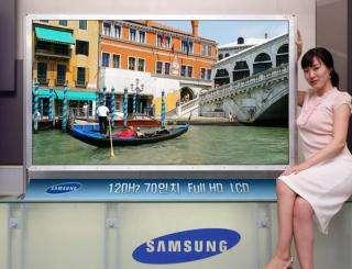 Samsung Develops First 70-inch LCD TV Panel