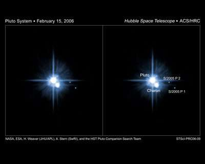 Hubble Confirms Two New Moons of Pluto
