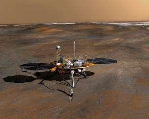 Artist's concept of Phoenix spacecraft.